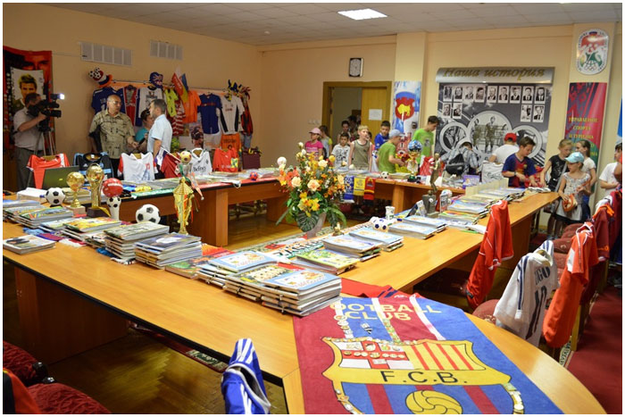 Выставка футбольной атрибутики
