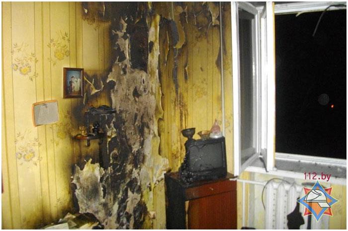 Причиной пожара в квартире в Бресте стала горящая свеча