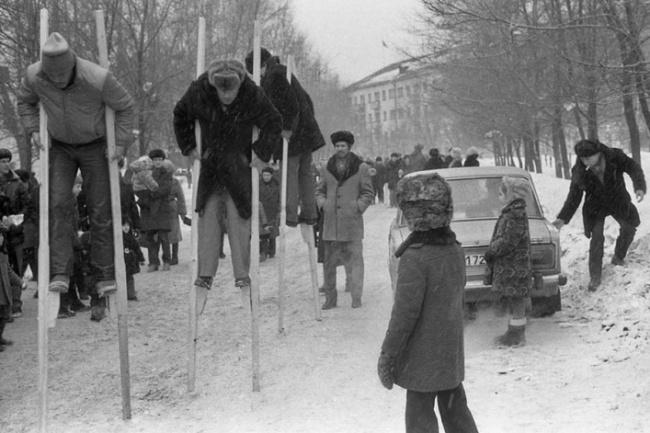 «Праздник Масленицы у шахтеров», Новокузнецк, 1984 год.