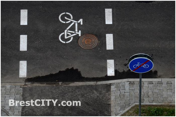 Велосипедный переход на ул. Московской в Бресте