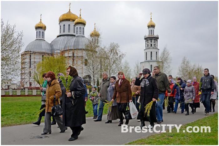 Вербное воскресенье в Бресте 13 апреля 2014