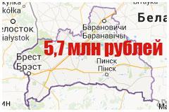 Средняя зарплата по Брестской области