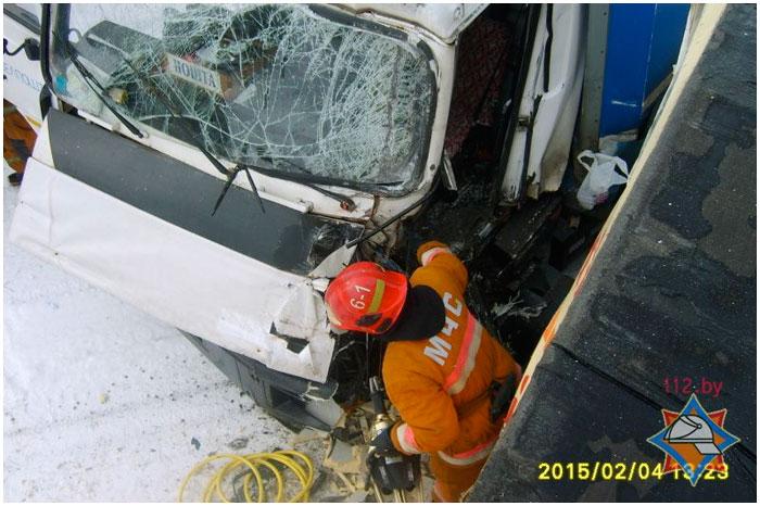 В Дрогичинском районе столкнулись два грузовика