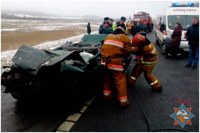 Авария в Барановичском районе. Погиб водитель