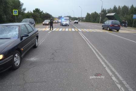 ДТП в Бресте на Березовке. Сбили двух пешеходов