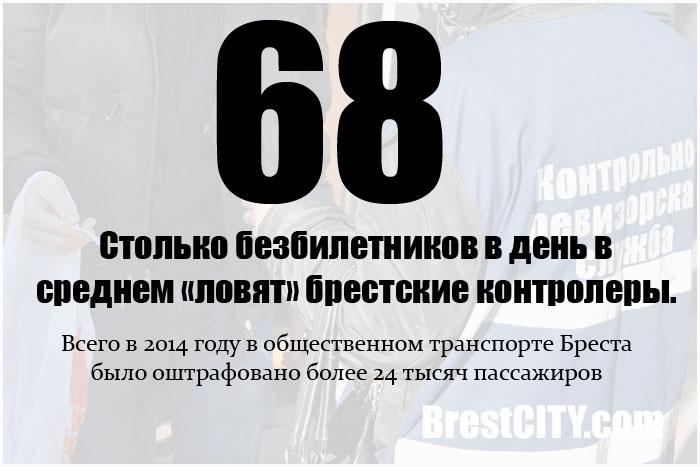 Сколько в среднем безбилетников в день ловят контролеры в Бресте