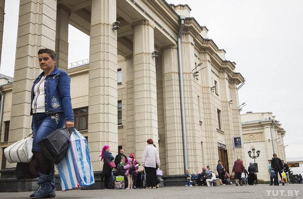 Беженцы из Чечни в Бресте
