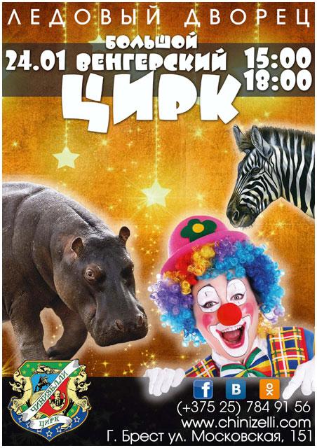 Большой венгерский цирк в Бресте