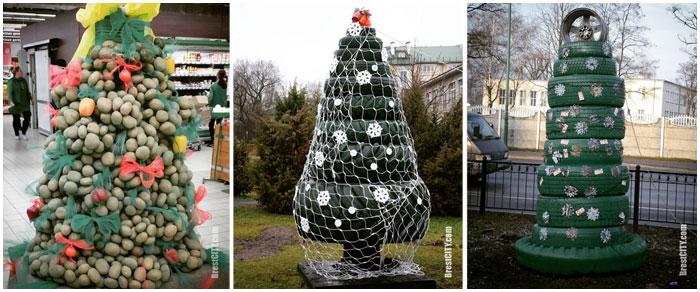 Необычные и креативные елки Бреста. Фото BrestCITY.com