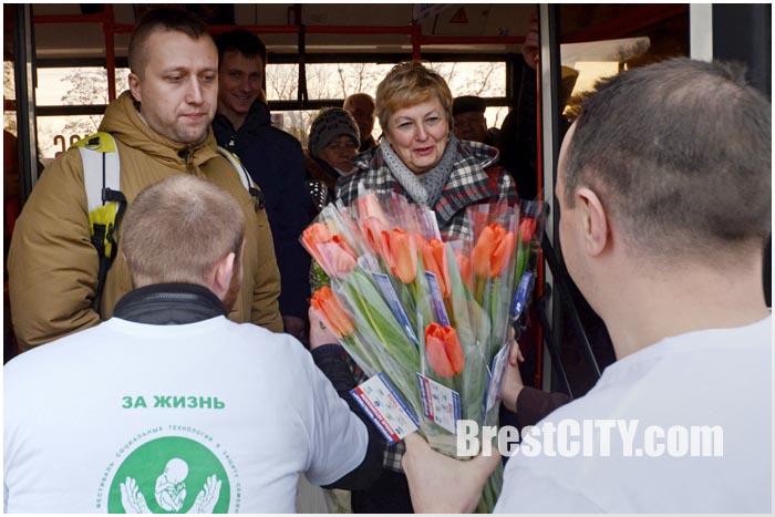 В Бресте поздравили женщин с 8 марта