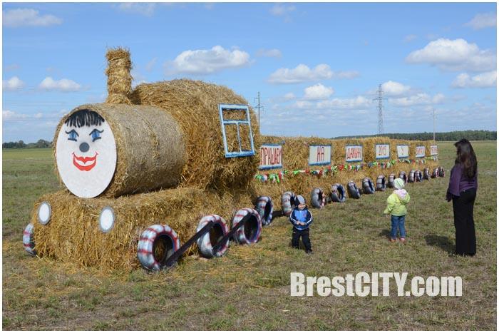 Соломенный поезд приглашает на районные Дожинки в Мотыкалах. Фото BrestCITY.com
