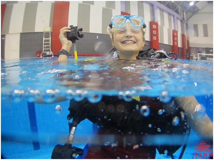 Обучение дайвингу в Брестском дворце водных видов спорта