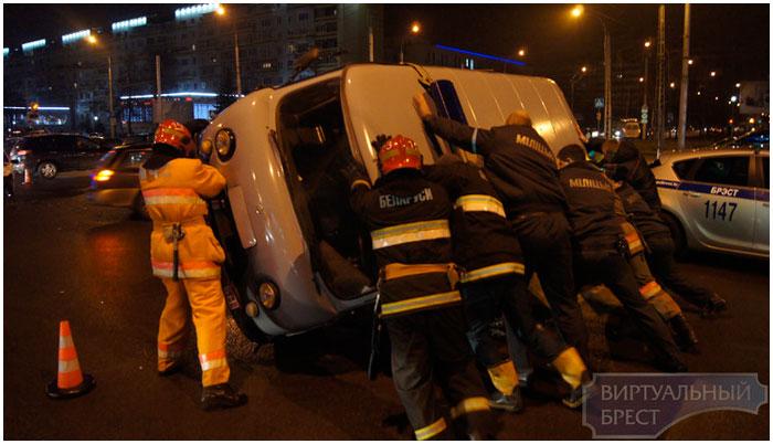 Авария в Бресте на Востоке 22 января 2015
