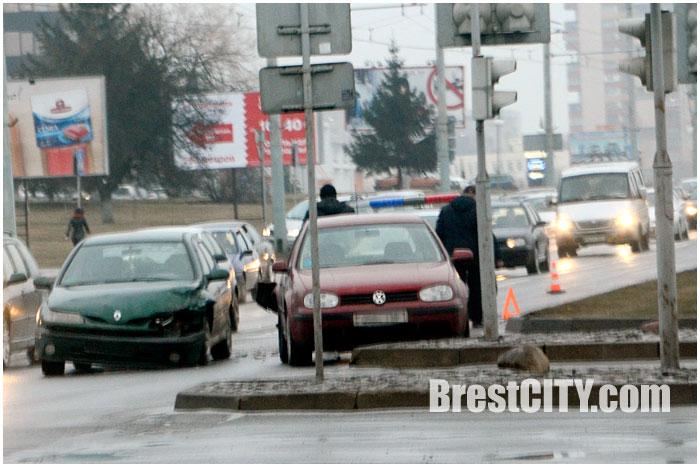 Авария в Бресте на Московской