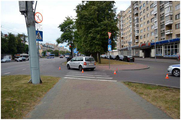 Авария на проспекте Машерова в Бресте 29 июня 2015