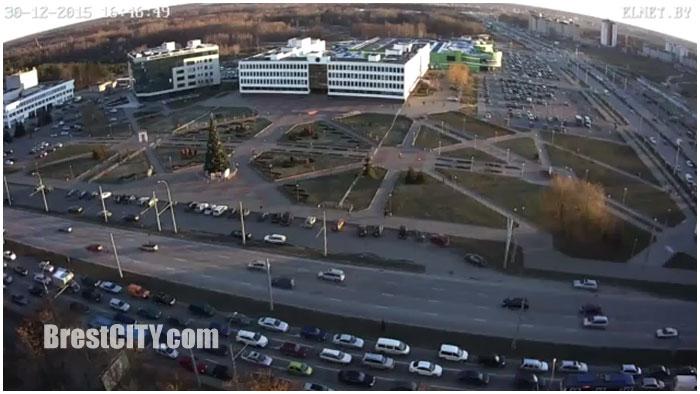 Новогодняя елка Московского района Бресте онлайн