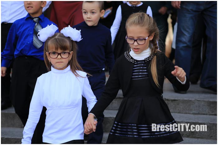 Ликвидация условного пожара в Бресте в 28 школе