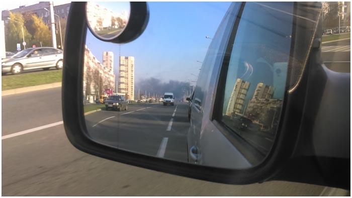 Пожар в новостройке по ул.Московской в Бресте 31 октября