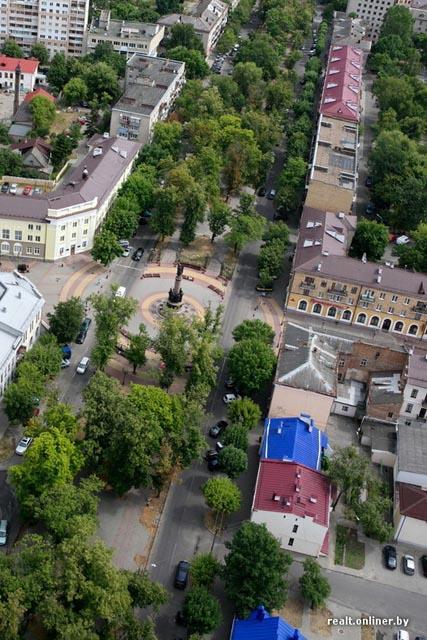 Город Брест из кабины вертолета
