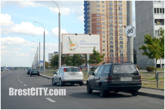 Лежачий полицейский на Гребном канале в Бресте. Фото Brestcity.com