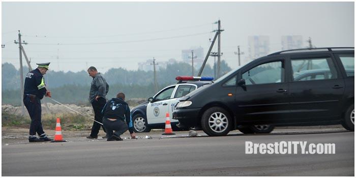 Авария в Бресте на Суворова 25 сентября 2015. Фото BrestCITY.com