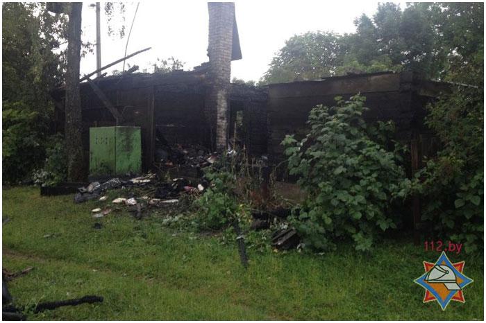 Пожар в деревне Ковердяки