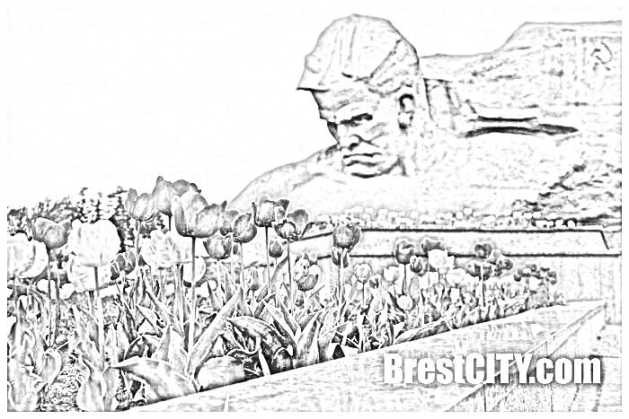 Брестская крепость. Рисунок карандашом