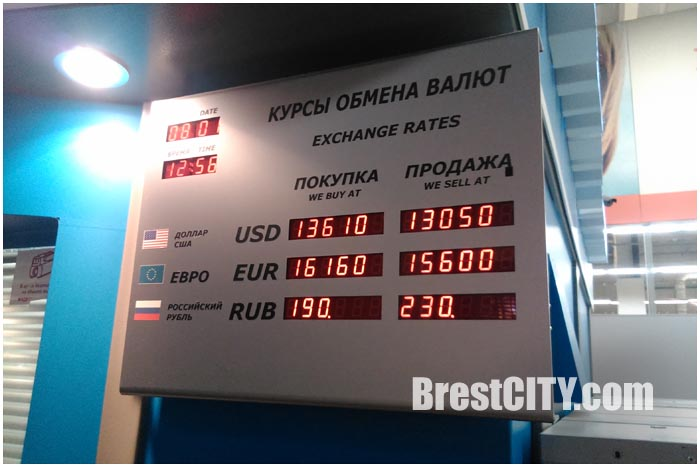 Табло курсов валют. Покупка-продажа доллара