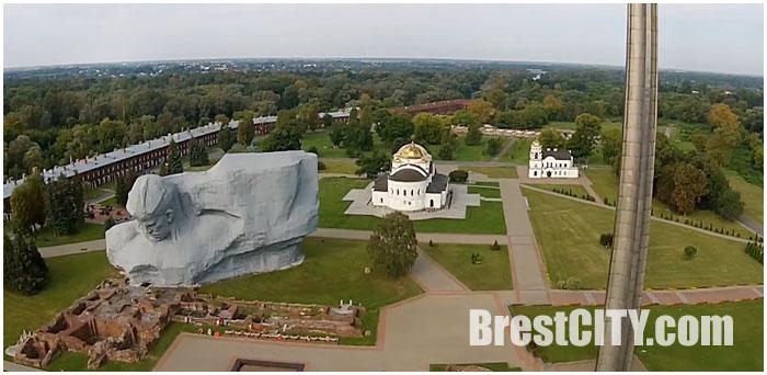 Брестская крепость снятая с квадрокоптера