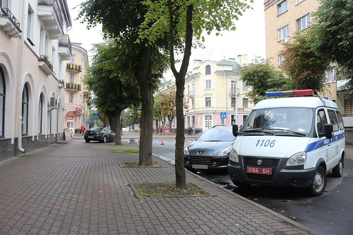 Авария на Пушкинской в Бресте. Мазда сбила пешехода