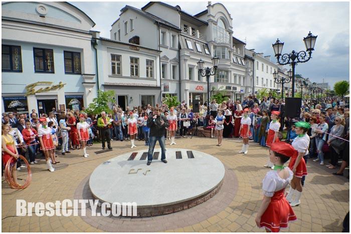 В Бресте открыли площадку для уличных музыкантов