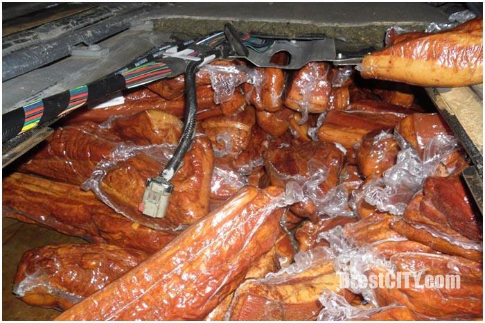 Тайники с мясом на через границу. Контрабанда