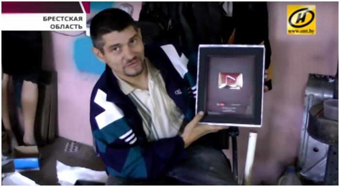 Олег Нестеров. 100 тысяч подписчиков. Награда от Ютуба