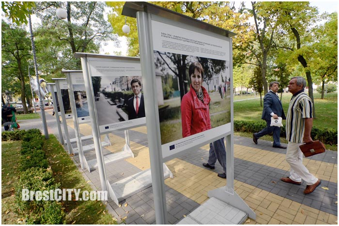 Уличная фотовыставка Проекты в лицах в Бресте