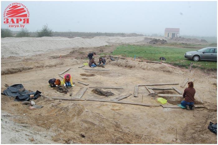 Раскопки в микрорайоне Ковалево в Бресте. Древняя стоянка готов