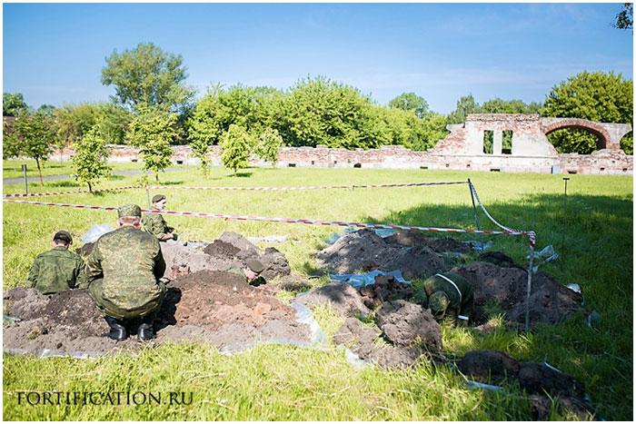Раскопки в Брестcкой крепости