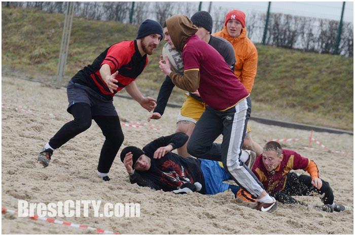 Соревнования по зимнему регби в Бресте 31 января 2015