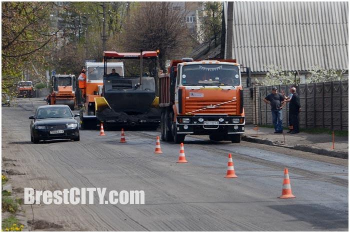 Ремонт дороги по улице Пушкинской в Бресте