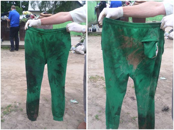 Труп новорожденного в мусорном контейнере. Зеленые штаны