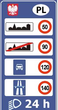 Штрафы в Польше. Знак