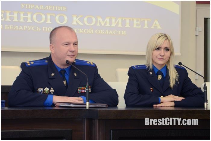 Пресс-конференция Следственного комитета в Бресте. Фото BrestCITY.com