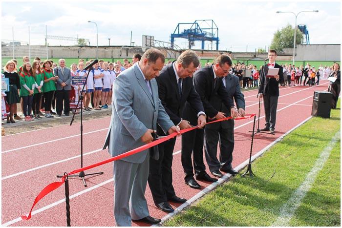 Новый школьный стадион открылся на Граевке в 17 школе Бреста
