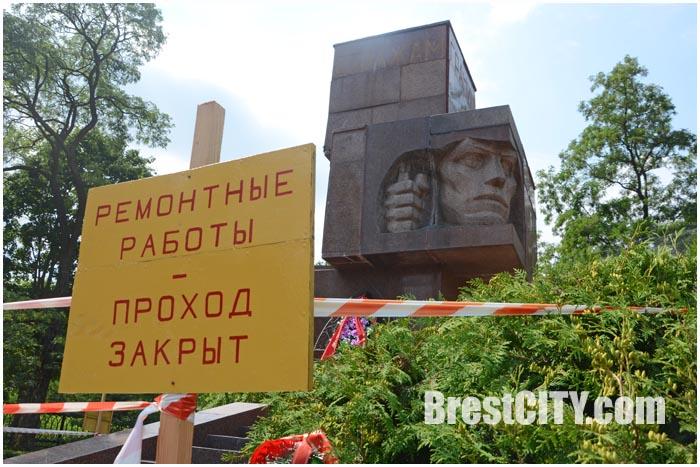 Памятник Стражам границ в Бресте закрыт на ремонт