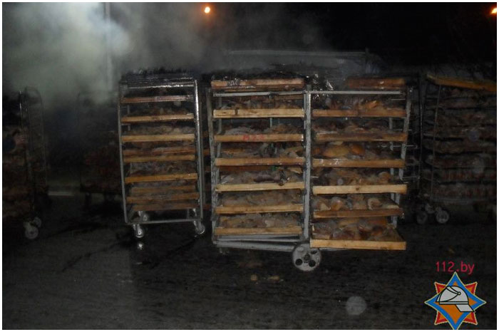 Пожар на хлебозаводе в Бресте