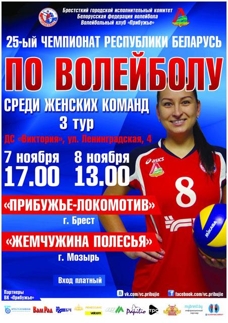 Волейбол среди женских команд. Прибужье Брест - Неман