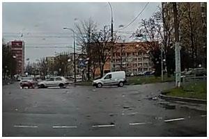 Авария с участием учебного автомобиля в Бресте 2 апреля 2015