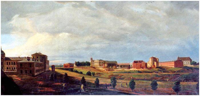 Картина Залесского Строительство Брестской крепости