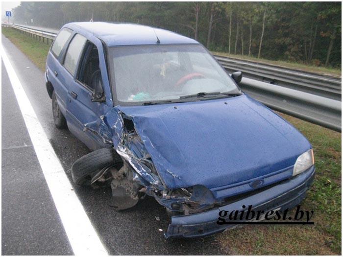 Авария двух пьяных водителей на трассе М1 3 октября 2016