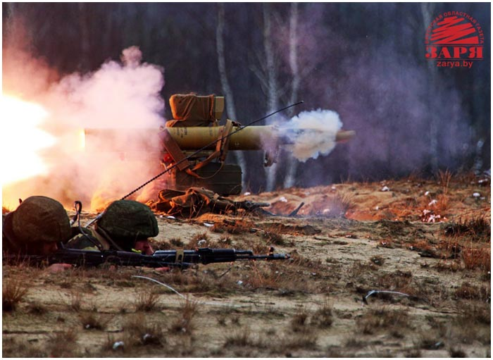 Учения десантников на брестском полигоне