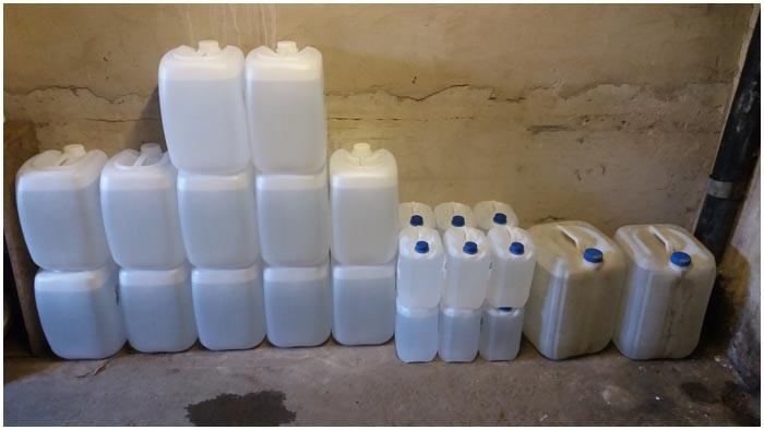 Более 800 литров спирта обнаружено сотрудниками ОБЭП